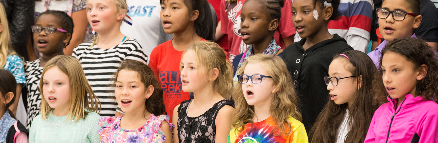 Perkins Elementary School Students Singing in Choir